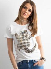 Biały damski t-shirt
