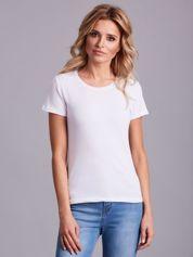 Biały damski t-shirt basic