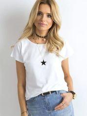 Biały t-shirt Circle