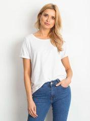 Biały t-shirt Transformative