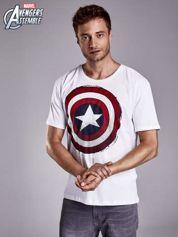 Biały t-shirt męski AVENGERS