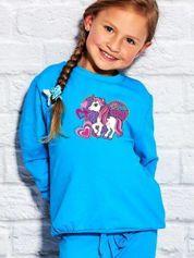 Bluza dla dziewczynki z motywem LITTLE PONY turkusowa