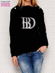 Bluza z cekinową naszywką czarna