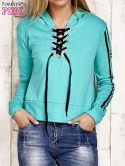 Bluza z wiązaniem zielona