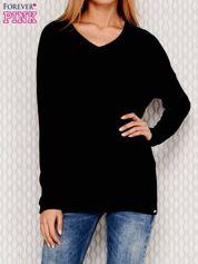 Bluzka oversize o nietoperzowym kroju czarna