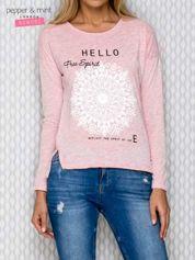 Bluzka z nadrukiem różowa