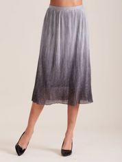 Błyszcząca spódnica w harmonijkę srebrna