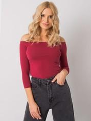 Bordowa bawełniana bluzka