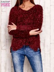 Bordowy sweter long hair