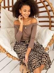 Brązowa bawełniana bluzka