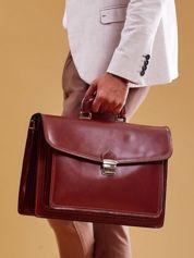 Brązowa skórzana torba męska aktówka
