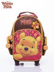 Brązowy plecak szkolny na kółkach walizka DISNEY Kubuś Puchatek