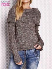 Brązowy sweter z cekinami
