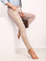 Ciemnobeżowe spodnie Voila