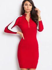 Ciemnoczerwona sukienka Jenna