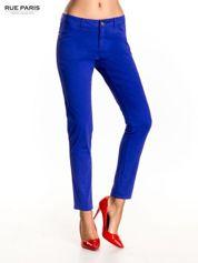 Ciemnofioletowe spodnie materiałowe w stylu chinos