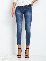 Ciemnoniebieskie jeansy Fashion
