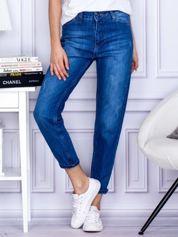 Ciemnoniebieskie proste jeansy regular