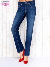 Ciemnoniebieskie spodnie jeansowe regular