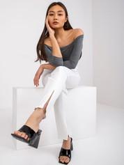 Ciemnoszara bawełniana bluzka