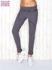 Ciemnoszare spodnie dresowe z suwakami
