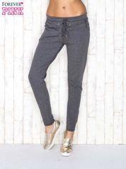 Ciemnoszare spodnie dresowe z wiązaniem