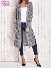 Ciemnoszary długi melanżowy sweter
