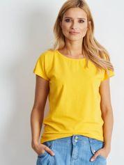 Ciemnożółty t-shirt Circle