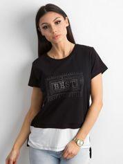 Czarna asymetryczna koszulka