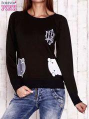 Czarna bluza z kocimi motywami