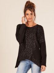 Czarna bluzka oversize z kieszeniami