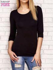 Czarna bluzka z koronkową wstawką