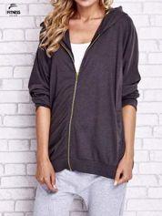 For Fitness Czarna melanżowa bluza oversize