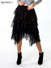 Czarna spódnica z tiulowymi falbanami BY O LA LA