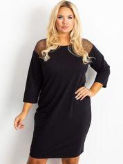 Czarna sukienka Telrose