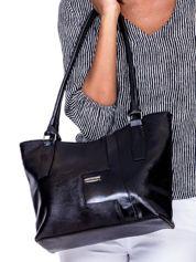 Czarna torba na ramię z ekoskóry