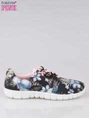 Czarne buty sportowe textile Tropicana w exotic print na podeszwie flex