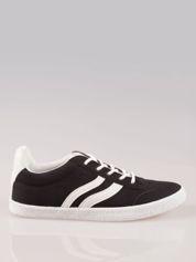 Czarne buty sportowe w stylu casual