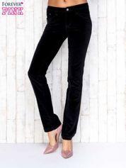 Czarne proste spodnie sztruksowe