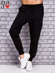 Czarne spodnie dresowe z zasuwaną kieszonką