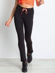 Czarne termoaktywne spodnie do biegania Performance RUN
