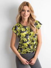 Czarno-żółty t-shirt z printem