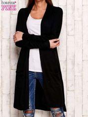 Czarny długi sweter oversize