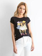 Czarny t-shirt Friendship