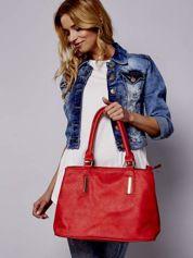 Czarwona torba miejska na ramię