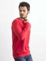 Czerwona bawełniana bluza męska
