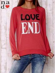 Czerwona bluza z napisem LOVE END