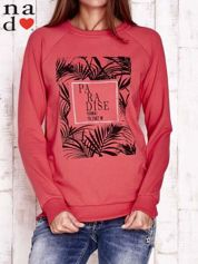 Czerwona bluza z napisem PARADISE