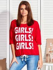 Czerwona bluzka GIRLS GIRLS GIRLS