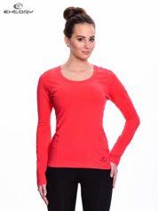 Czerwona bluzka sportowa z dekoltem U